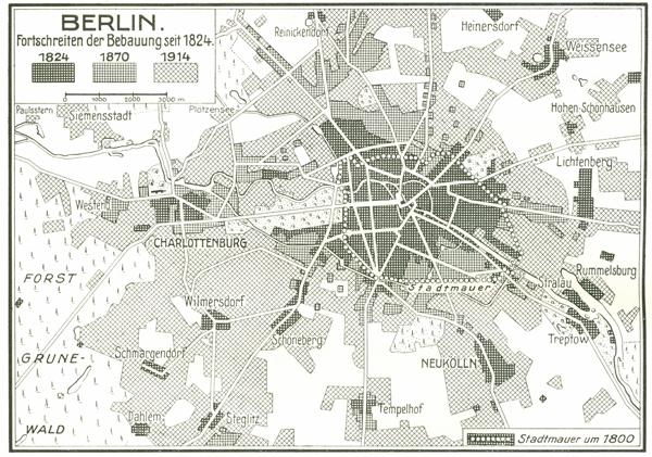 Ueberblick Entwicklung Stadtbebauung